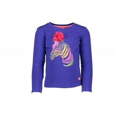 Kidz-art t-shirt Zebra dark blue