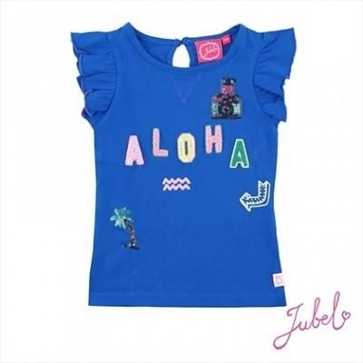 Foto van Jubel t-shirt k/m exotic blauw