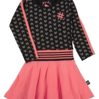 Foto van irds girls dress black pink