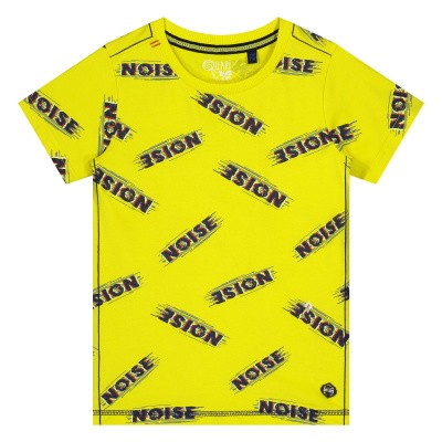 Quapi Alain Shirt Blazing Yellow Text