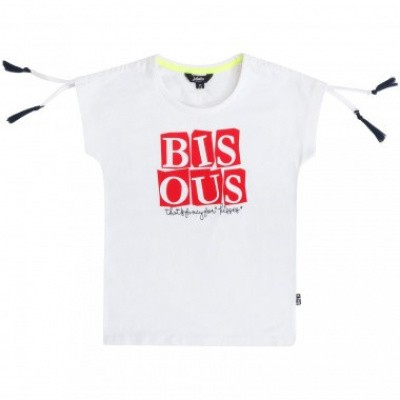 Little miss Juliette T-shirt Bisous wit