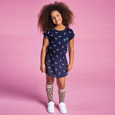 Quapi girls limited edition dress Sharon navy zebra