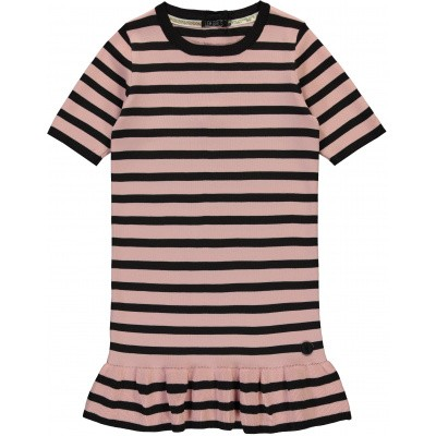 Foto van LEVV girl Berta Nylon dress Old pink stripe