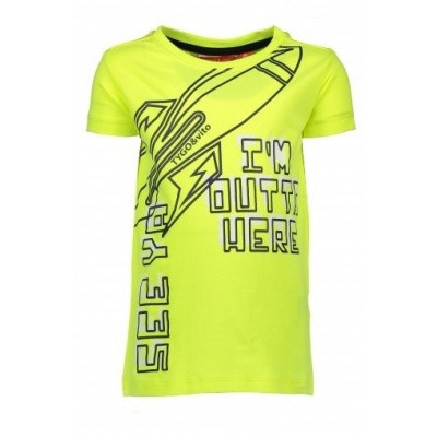 Foto van Tygo & Vito boys neon yellow shirt
