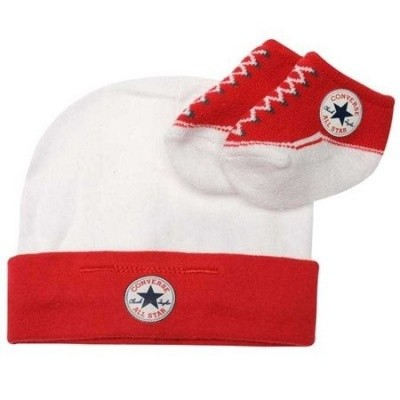 Foto van Converse Infant Hat & Booties red 0-6 mnd