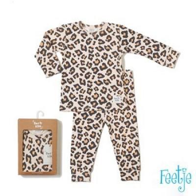 Feetje Leopard Luxe Sleepwear Perzik