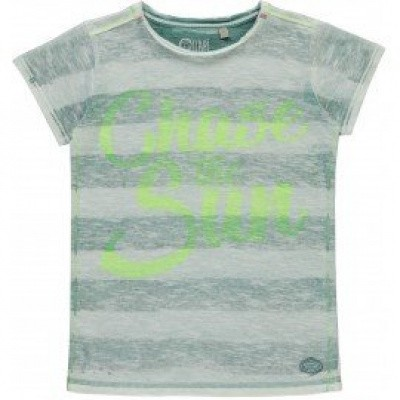Foto van Quapi boys shortsleeve Savino Artic green stripe