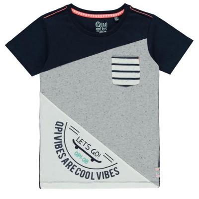Qupai boys shirt Seth navy