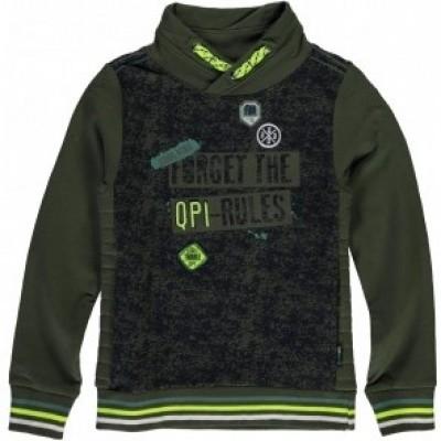 Foto van Quapi boys Liano Sweater Dark green Camouflage