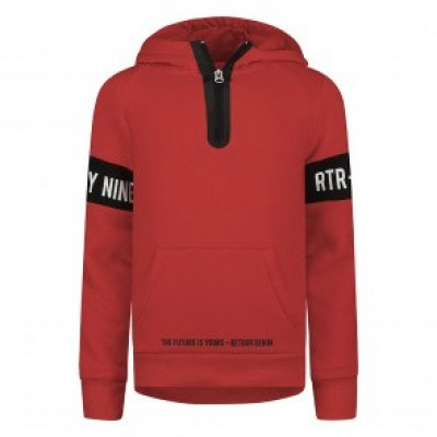 Foto van Retour Boys Chaz sweater/hoodie Bright red