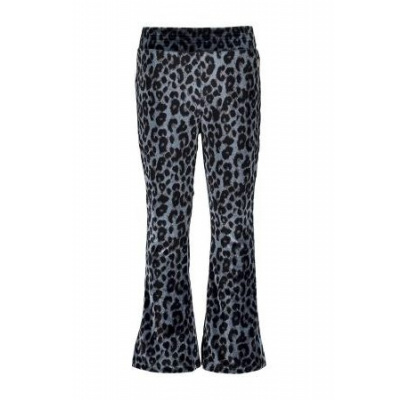 Foto van Moodstreet girls flared pants blue velvet