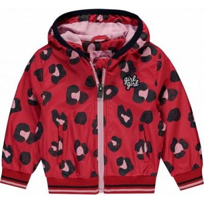quapi baby girl Rosie Jacket rouge red leopard