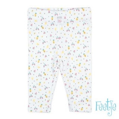 Foto van Feetje Baby Girl Legging AOP Sweet By Nature White