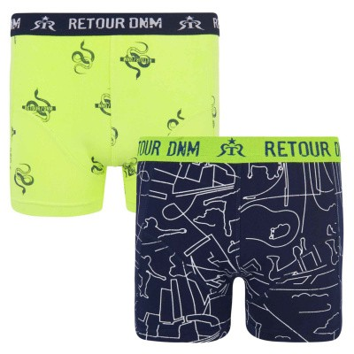 Foto van Retour boys shorts Phil black/yellow