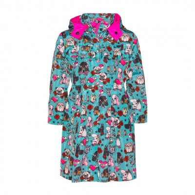 mim 322 girls summer jacket dog print