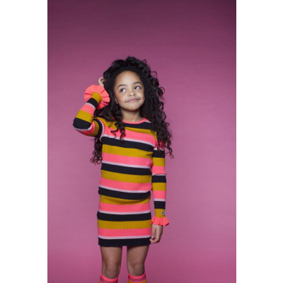 Foto van Moodstreet girls dress stripe allover