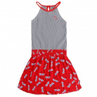 Foto van Little miss Juliette Dress halter rood