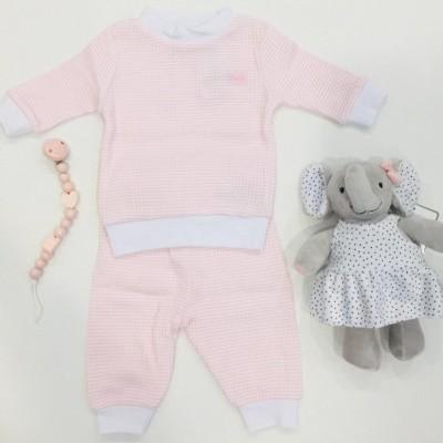 Foto van Feetje pyjama wafel Zalm Summer Special Baby
