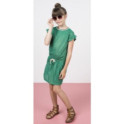 Foto van Like Flo Meisjes jurk groen 5817