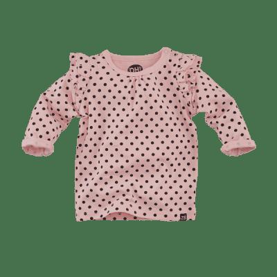 Foto van Z8 girls newborn Lisbon longsleeve pink/dots