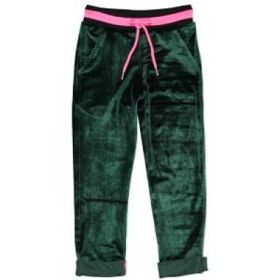 Foto van Funky xs girls GL Uni Velours Pants bottle green