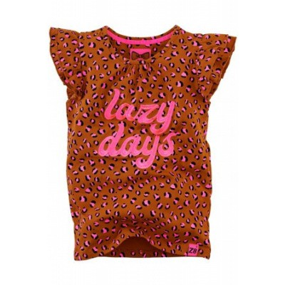 Foto van Z8 girls Ulrike T-shirt Cognac/Leopard