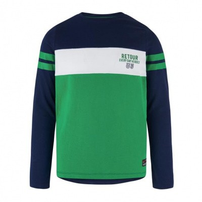 Foto van Retour boys sweater Felix dark blue/green