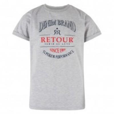Foto van Retour Boys Sascha T-shirt Light Grey Melange
