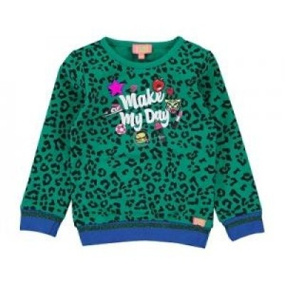Foto van Funky xs sweater make my day bright green
