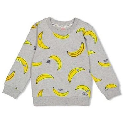 Sturdy sweater banana grey melange