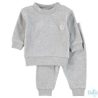 Foto van Feetje baby pyjama grijs melange