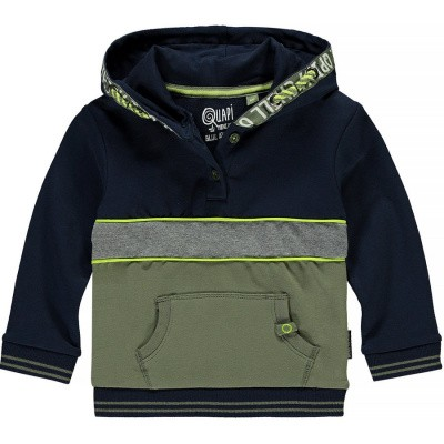 Quapi baby boy Vince Hooded Sweater Mid Blue