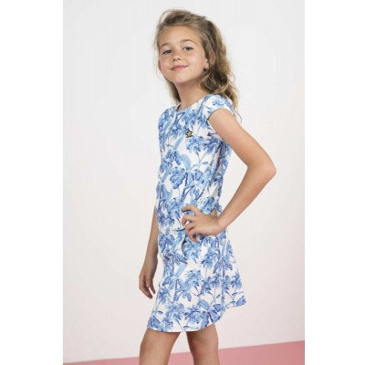 Foto van flo girls dress blue/white