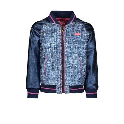 Kidz-art girls jacket blue tweed