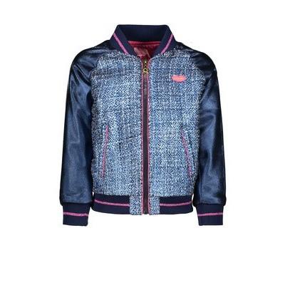 Foto van Kidz-art girls jacket blue tweed