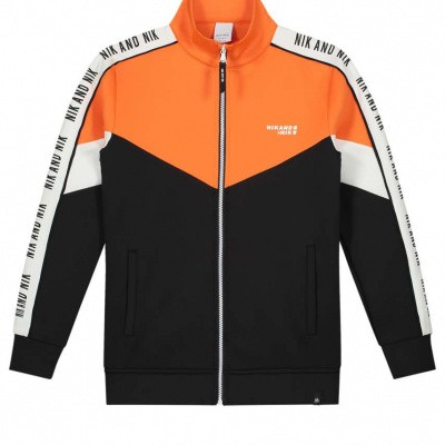 Nik & Nik Almo track jacket black/orange