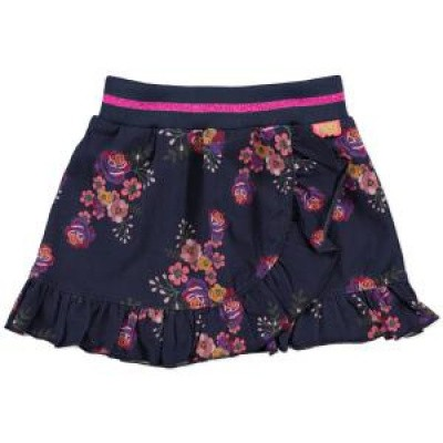 Foto van Funky xs girls flower skirt navy