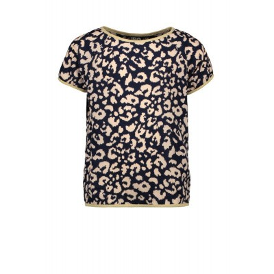 Foto van Flo girls top navy cream print
