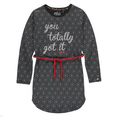 Quapi girls dres Lamira 2 dark grey