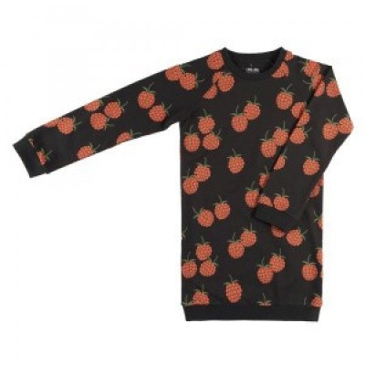 Foto van CarlijnQ Girls Blackberry - Sweater Dress Antraciet/All over print Berry