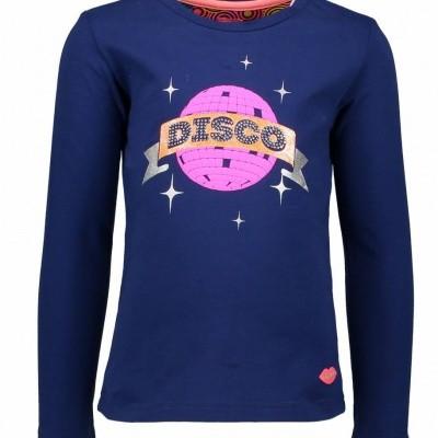 Kidz-art meisjes longsleeve Disco Ball Dark Blue