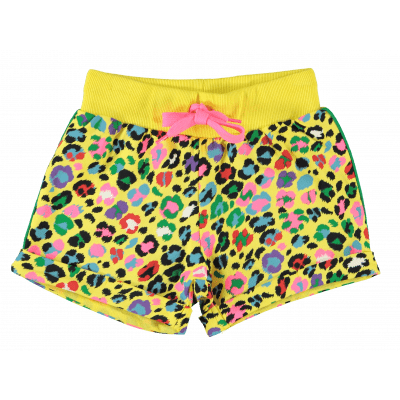 O'chill Short pants Frenkie all over print leopard yellow