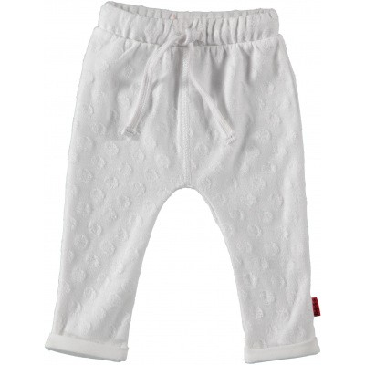 Bess newborn pants dots white