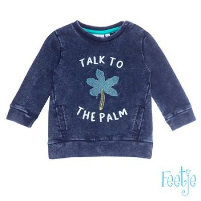 Foto van Feetje baby boy Sweater talk to Mr. Laidback Indigo