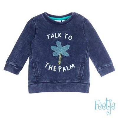 Feetje baby boy Sweater talk to Mr. Laidback Indigo