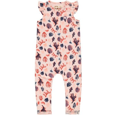 Tumble n dry baby girl jumpsuit Erissa tropical peach