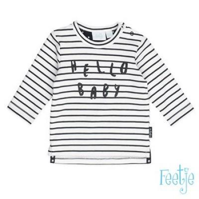 Feetje newborn boy sweater Streep Wit/Zwart