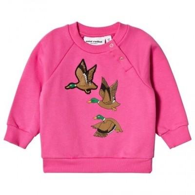 Mini Rodini sweatshirt duck sp pink