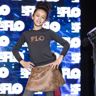 Foto van Flo meisjes sweater zwart