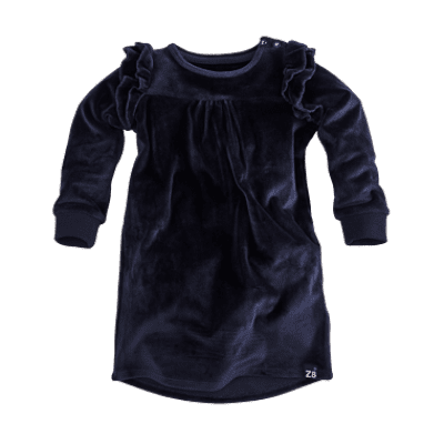 Foto van Z8 girls Jurk Nadina Navy Velvet (limited edition)